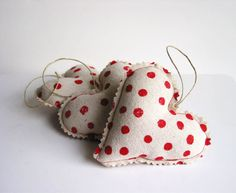 Sew hearts and fill with scents! Great for around the house!