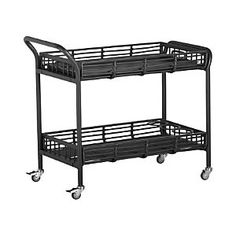 Kruger Black Bar Cart..bar carts are much needed brings the bar and party outside  #backyard and #summer