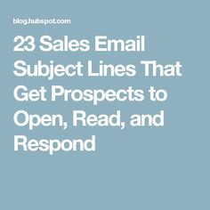 No one will read your email if they don't open it. These email subject lines for sales make sure your prospects open them instead of deleting them. Email Marketing, Internet Marketing, Cold Email, Web E, Email Subject Lines, Branding, Business Design, Writing, Learning
