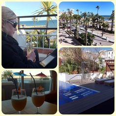 Sometimes it's nice to splash out on a little bit of luxury #travel #spain #sitges #luxury #cocktails #sun #sand #beach #pool #cava #drinks #view #budgettravel