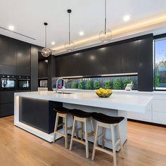 The Lokoya - Ben Trager Homes Living Room Kitchen, Home Decor Kitchen, Home Kitchens, Kitchen Ideas, Living Rooms, Latest Kitchen Designs, Modern Kitchen Design, Display Homes, Open Plan Kitchen