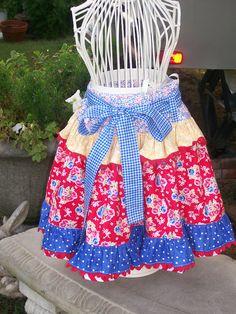 Cute apron, lovely fabrics from My Sew Sweet Studio