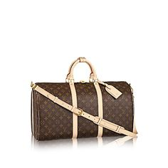 Keepall Bandoulière 50 Monogram by Louis Vuitton Lamb Handbags 7063757c165df