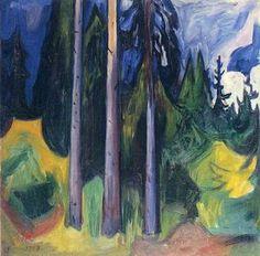 forêt - (Edvard Munch)