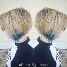 #glambyleann #bob #lob #razorcut  #mermaidhair #hair #balayage #ombre #hairpainting  #platinum #blonde #tealhair  #joicointensity