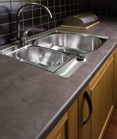 Mørk Betong i kjøkken miljø Sink, Home Decor, Sink Tops, Vessel Sink, Decoration Home, Room Decor, Vanity Basin, Sinks, Countertop