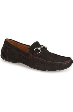 Free shipping and returns on 1901 'Torino' Perforated Driving Shoe (Men) at Nordstrom.com. Fashioned from soft, perforated suede, a casual driving shoe is detailed with contrast topstitching and a brushed-metal bit.