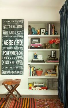 Love the idea of the street name board.  think I'll have to make one with New York street names instead!!