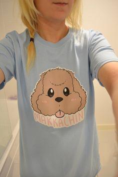 Makkachin Yuri on Ice Tee T-shirt Anime Handmade by OhayouClothing