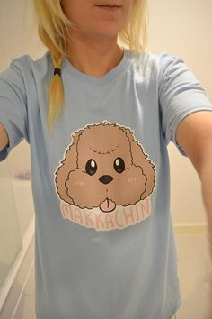 Makkachin Yuri on Ice Tee T-shirt Anime Handmade by OhayouClothing