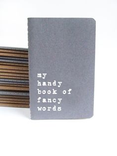 Funny Gift: Grey MOLESKINE® notebook to keep all newly learnt fancy words handy before an interview or a date! by Alfamarama on Etsy