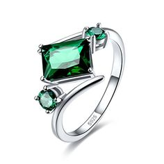 wt Cushion Cut Green Quartz Solitaire Sterling Silver Ring Size 6 7 8 9 5 ct