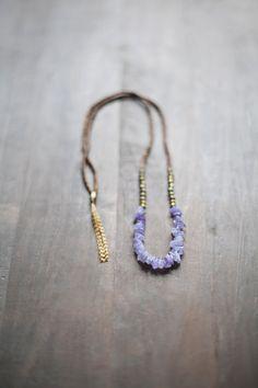 Mixed Media Boho Necklace / Light Purple Necklace por BlueBirdLab