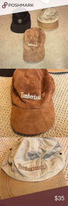 114bc107 Lot of 3 Timberland Hats Vintage Slightly used Lot of 3 Timberland  Accessories Hats Timberland Hats