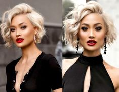 If you have fine hair, bob becomes one of the best hairstyle ideas. To make it more interesting, you can add textures. You can simply transform your style with this stunning hairstyle. If you are inte Bob Hairstyles For Fine Hair, Hairstyles Haircuts, Cool Hairstyles, Hairstyle Ideas, Bob Hairstyles How To Style, Wedding Hairstyles, Medium To Short Hairstyles, Curled Bob Hairstyle, Blonde Bob Hairstyles
