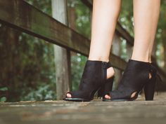 Where She Walks Wedge - Black from Chocolate Shoe Boutique