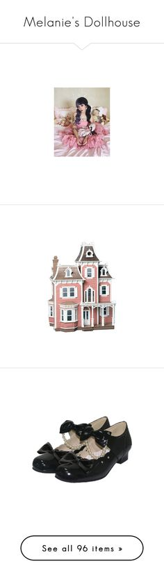 """Melanie's Dollhouse"" by primadonna27 ❤ liked on Polyvore featuring images, melanie martinez, house, fillers, toys, pink, backgrounds, shoes, lolita and costumes"