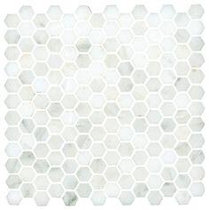 Carrara hex mosaic