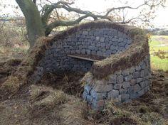Fife - dolerite, turf and larch bench | Stone InspiredStone Inspired