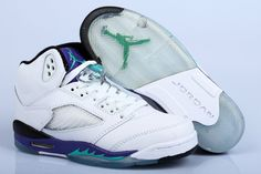 Air Jordan 5 V Retro White Purple Mens shoes