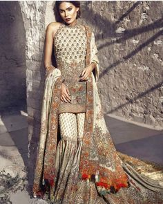 """31 Likes, 1 Comments - PakCouture (@instapakcouture) on Instagram: """"Details to die for!  ____________________________  Designer: @farahandfatima Model: @zaraabid369…"""""""