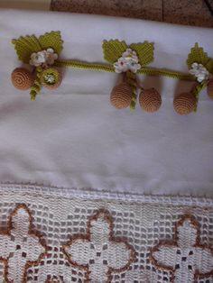pano de prato mini kiwi em croche