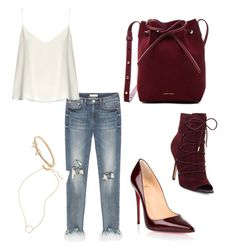 Designer Clothes, Shoes & Bags for Women Polyvore Fashion, Madewell, Christian Louboutin, Burgundy, Kate Spade, Bows, Shoe Bag, Clothing, Stuff To Buy