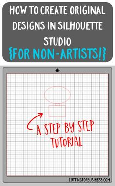 How to Create Your Own Designs in Silhouette Studio - a tutorial by cuttingforbusines. Silhouette Curio, Silhouette School, Silhouette Cutter, Silhouette Vinyl, Silhouette Cameo Machine, Silhouette Portrait, Silhouette Files, Silhouette Design Studio, Silhouette America