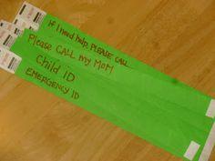 Latter-day Homeschooling Quick Child ID bracelets