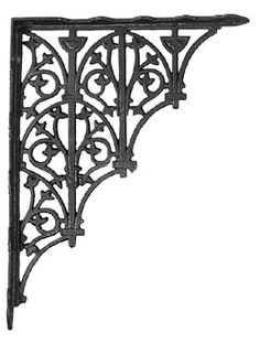 Brace Measures  6 x 6 Set of 4 Medium Simple Arch Cast Iron Shelf Brackets