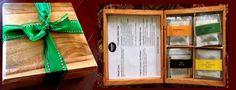 Hand made Tea box -- 24 teabags 4 different tea flavors  - contact www.Sahpat.com