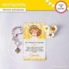 Primera Comunión Margaritas: Invitaciones