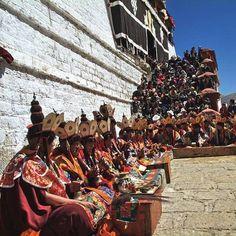 Religious Rite at Ganden Monastery