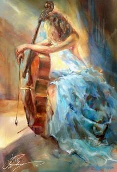 Anna Razumovskaya Paintings | Bisogna avere in sè il caos per partorire una stella che danzi