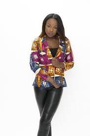 Image de veste en pagne pour femme