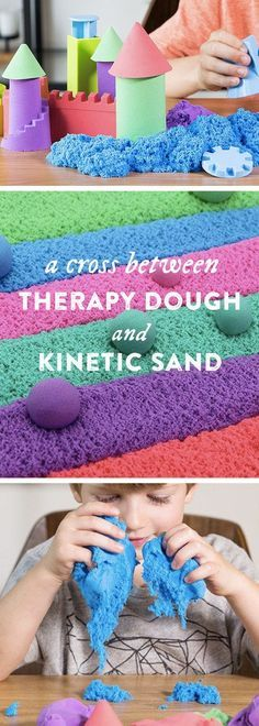 Is it therapy dough or moldable kinetic sand? Mad Mattr is both. Sculpt, stretch—even crumble—it and watch the texture change from sandy to silky soft in seconds.