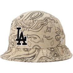 359f7183a41 Men s Los Angeles Dodgers New Era Natural Paisley Bucket Hat