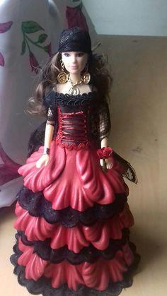 Barbie Dress, Baby Patterns, Crochet Baby, Culture, Dresses, Fashion, Craft Fairs, Doll Crafts, Barbie Dolls