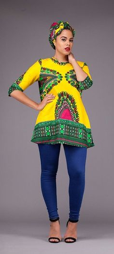 Yellow Dashiki Top. A beautiful statement unlined top ready to wear either with your favourite pair of jeans or skirt. Doesn't come with the Headwrap. Ankara | Dutch wax | Kente | Kitenge | Dashiki | African print bomber jacket | African fashion | Ankara bomber jacket | African prints | Nigerian style | Ghanaian fashion | Senegal fashion | Kenya fashion | Nigerian fashion | Ankara crop top (affiliate)