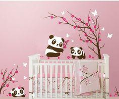 tapeten-farben-ideen-babyzimmer-mit-rosigen-wänden