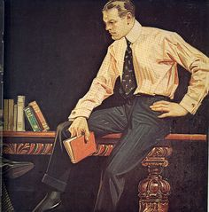 Stylish and thoughtful and sexy.  Artwork by J.C. Leyendecker