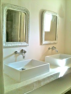 Ricardo Blanco PEINTURE & DÉCORATION à la chaux naturelle Artisan Compagnon Peintre Stucateur : Tadelakt Bathroom Style Ideas DÉCORATION : DOUCHE ITALIENNE EN BETON CIRE MAT