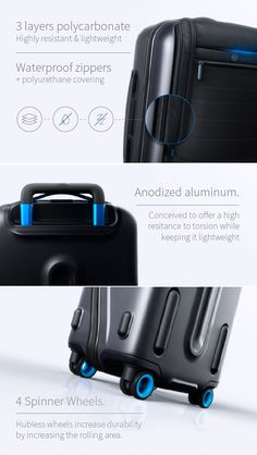 Bluesmart: World's First Smart, Connected Carry-On | Indiegogo. This carry-on connects via bluetooth and lets you know how much it weighs. Wish they had a giant luggage version for international travelers.