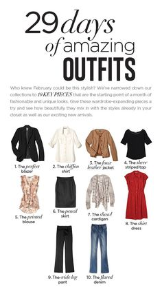29 days of amazing outfits with 10 key pieces from Smart Set