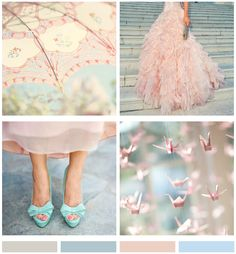 Mood Board: Soft Blue and Pink   *Lovely Clusters - The Pretty Blog