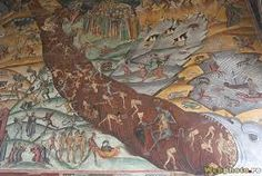 """The Horezu Monastery or Hurezi Monastery was founded in 1690 by Prince Constantin Brâncoveanu in the town of Horezu, Wallachia, Romania. It is considered to be a masterpiece of """"Brâncovenesc style"""", Religious Paintings, Popular Art, 17th Century, Golden Age, Romania, Christianity, History, Prince, Europe"""