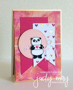 Stampin' Up! Party Pandas & Painted with Love DSP - Judy May, Just Judy Designs #stampinup