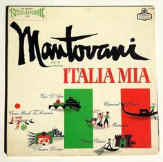 Mantovani and His Orchestra - Italia Mia LP Vinyl Record Gatefold booklet Album, London Records - PS 232, Classical, 1961, Original Pressing