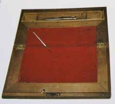 The writing desk Laura Ingalls Wilder used, made by her husband, Almanzo