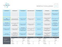 November 2013 #Barre Challenge with Physique 57